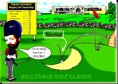 Golf cartoon from Speedcat Hollydale golf