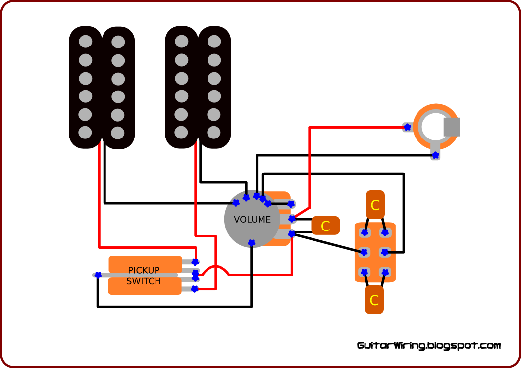 the guitar wiring diagrams and tips single potentiometer wiring with an useful tone