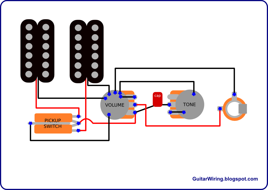 the guitar wiring blog diagrams and tips guitar wiring ground and guitar wiring two knob this is the similar wiring, but there's the loop of ground wires (black)
