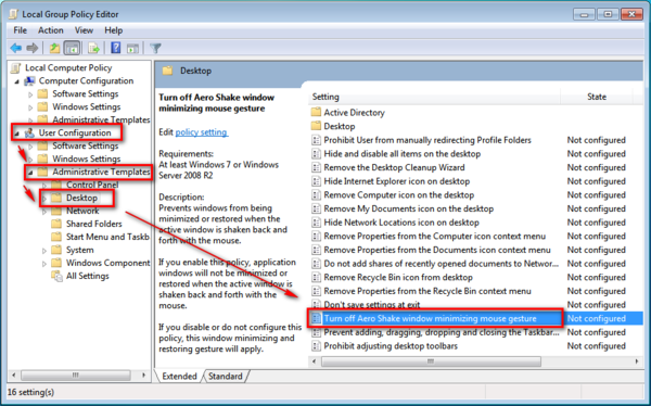 How to Enable or Disable Aero Shake in Windows 7 ~ Windows 7 Support