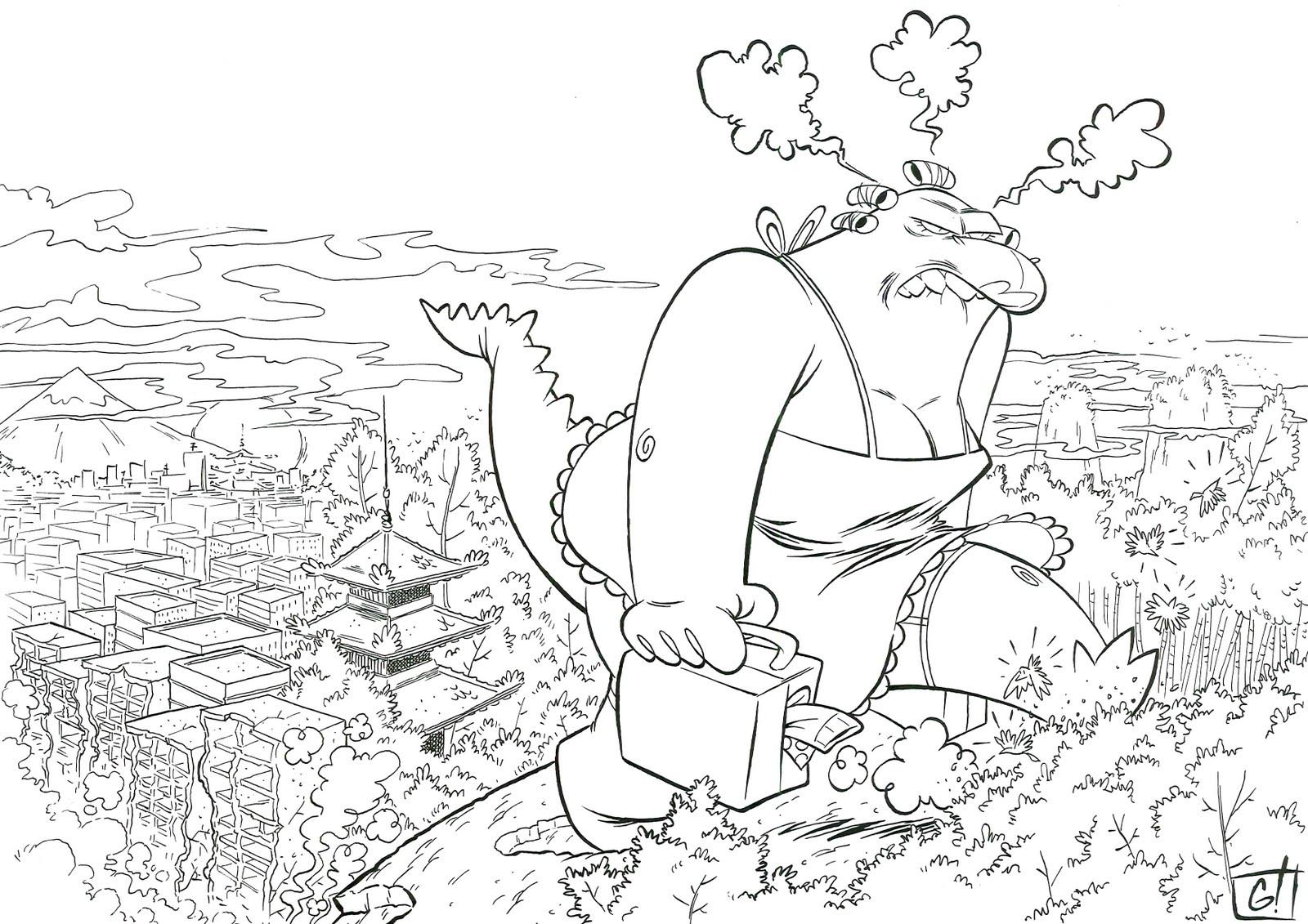 Famoso Colorear Godzilla Cresta - Dibujos Para Colorear En Línea ...