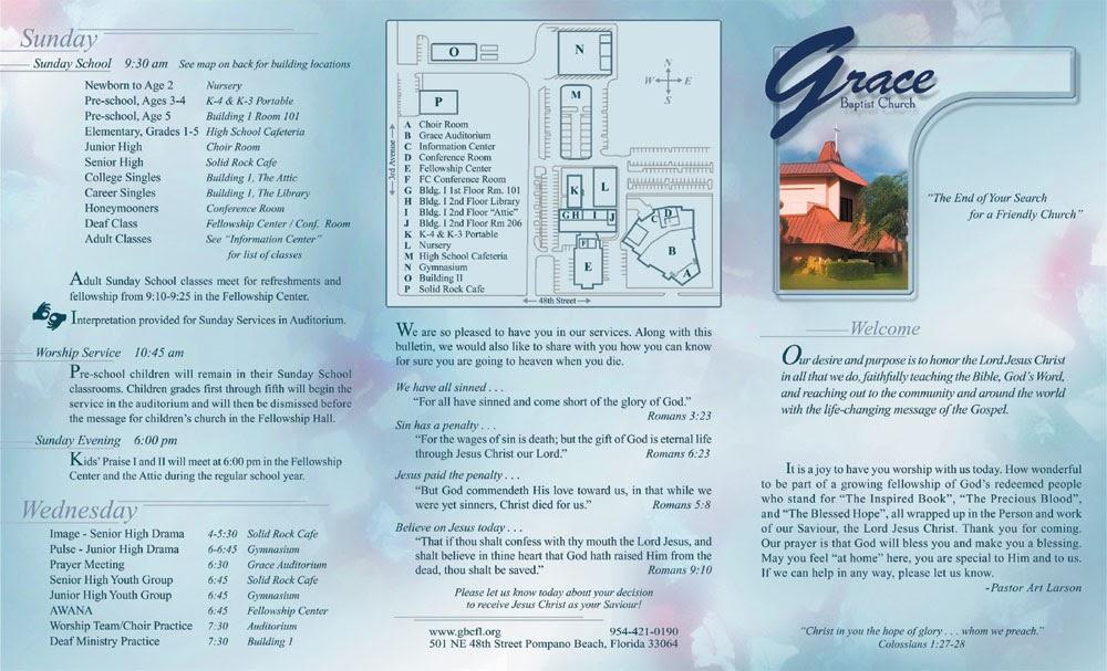church bulletin design