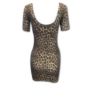 Leopard Print Dress on Closet Chaos    Leopard Print Fitted Mini Dress  Brown