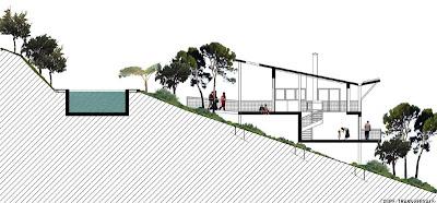 une maison dans la pente coo architectes. Black Bedroom Furniture Sets. Home Design Ideas