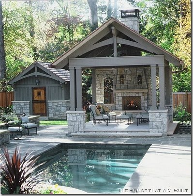Carriage house plans pool houses for Outdoor pool house designs