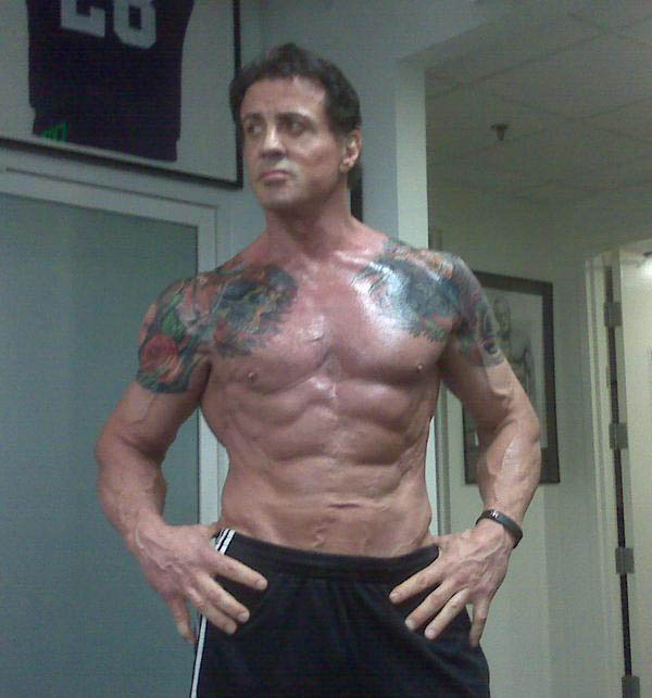 Sylvester Stallone Getting Buff For The Expendables