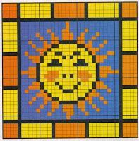 маленькие схемы для вышивания солнце