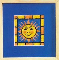 простые схемы для вышивания солнце