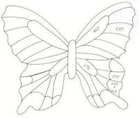 схема бабочек из бумаги