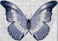 схемы для вышивания бабочки
