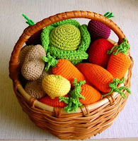 вязаные овощи крючком