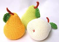 фрукты вязаные крючком