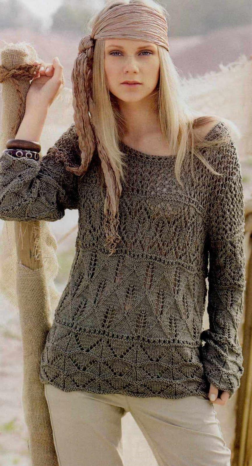 Красивое современное вязание спицами