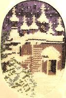 вышивка бисером зима рождество, схема