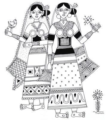 Vaho Tear 7 besides Garden Lizard From Basic Shapes furthermore Folk Designs From Bihar in addition Himachal Pradesh additionally Folk Designs From Bihar. on tamil nadu home design