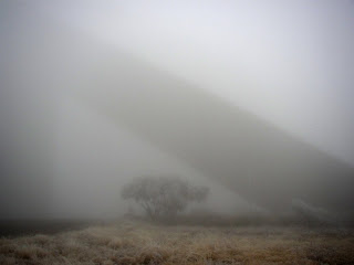 The itt Peak McMath-Pierce Solar Telescope in Fog