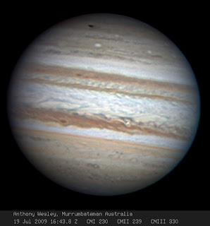 Impact scar on Jupiter