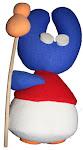 Mascota Peregrina de la A.C. Vegas Altas: PEREGRULLA