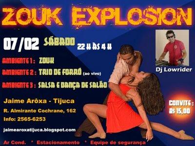 Zouk Explosion com Dj Lowrider, Jaime Aroxa - Tijuca