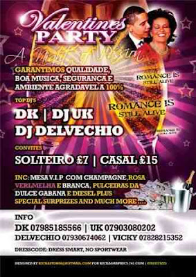 Valentines Party, Vip Bookings, wristbands from Dulce Gabana & Diesel
