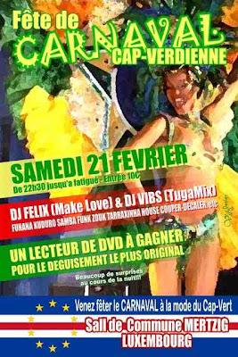 Grand Fête de CARNAVAL Cap-Verdienne Brussels - Zouk, Kuduro, Funana, Samba, Funk, Tarraxinha, House
