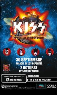 Kiss en México 2010