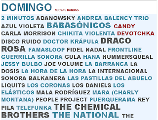 Cartel Domingo Vive Latino 2011