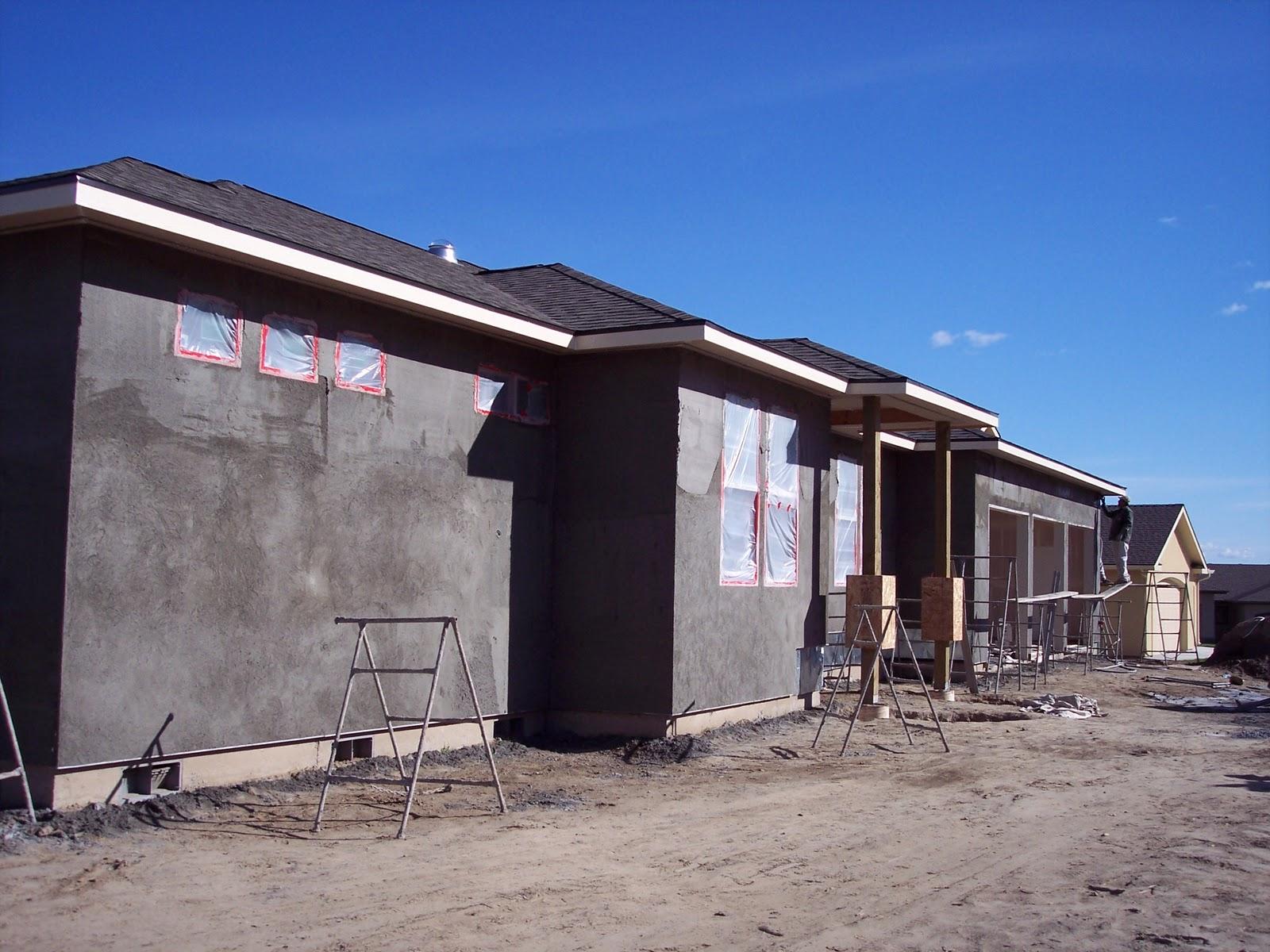 Building A Home Stucco Process 10 15 2010