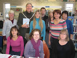 Volunteers support the book launch  - and the Hayle Mayor John Bennett