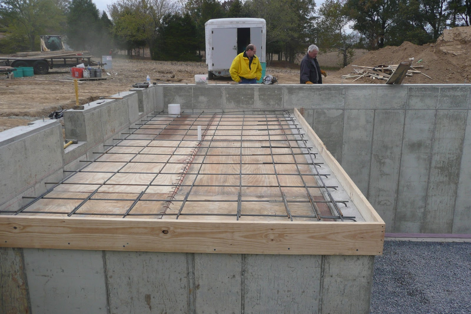Journey to our dream home end week 5 finishing the basement for Concrete basement construction