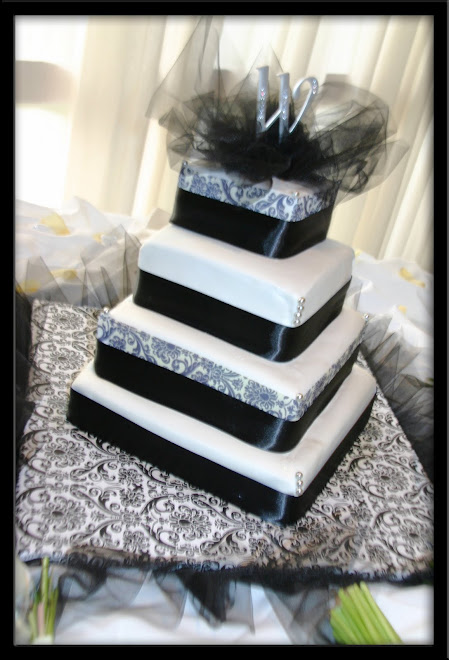 U of H Wedding - Bride's Cake