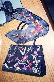 Embroidery for shoes & bag too!