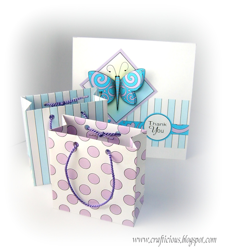 Crafticious small gift bag template tutorial - Template for small gift box ...