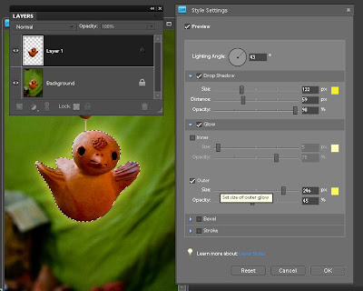 how to add a black glow in photoshop