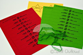 Advent Paper Chain Materials