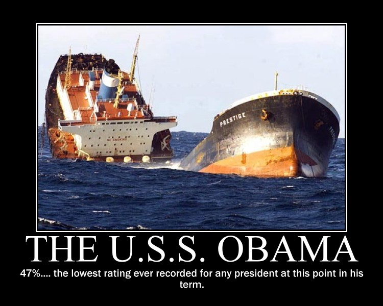 the USS Obama sinks