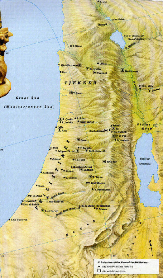 "map of the country of Palestine/ ""Philistine"" in arabic"