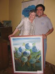 Una hermosa pintura fue regalada por artista local