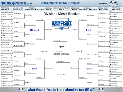 Bill Newsome's 2009 NCAA Basketball Bracket