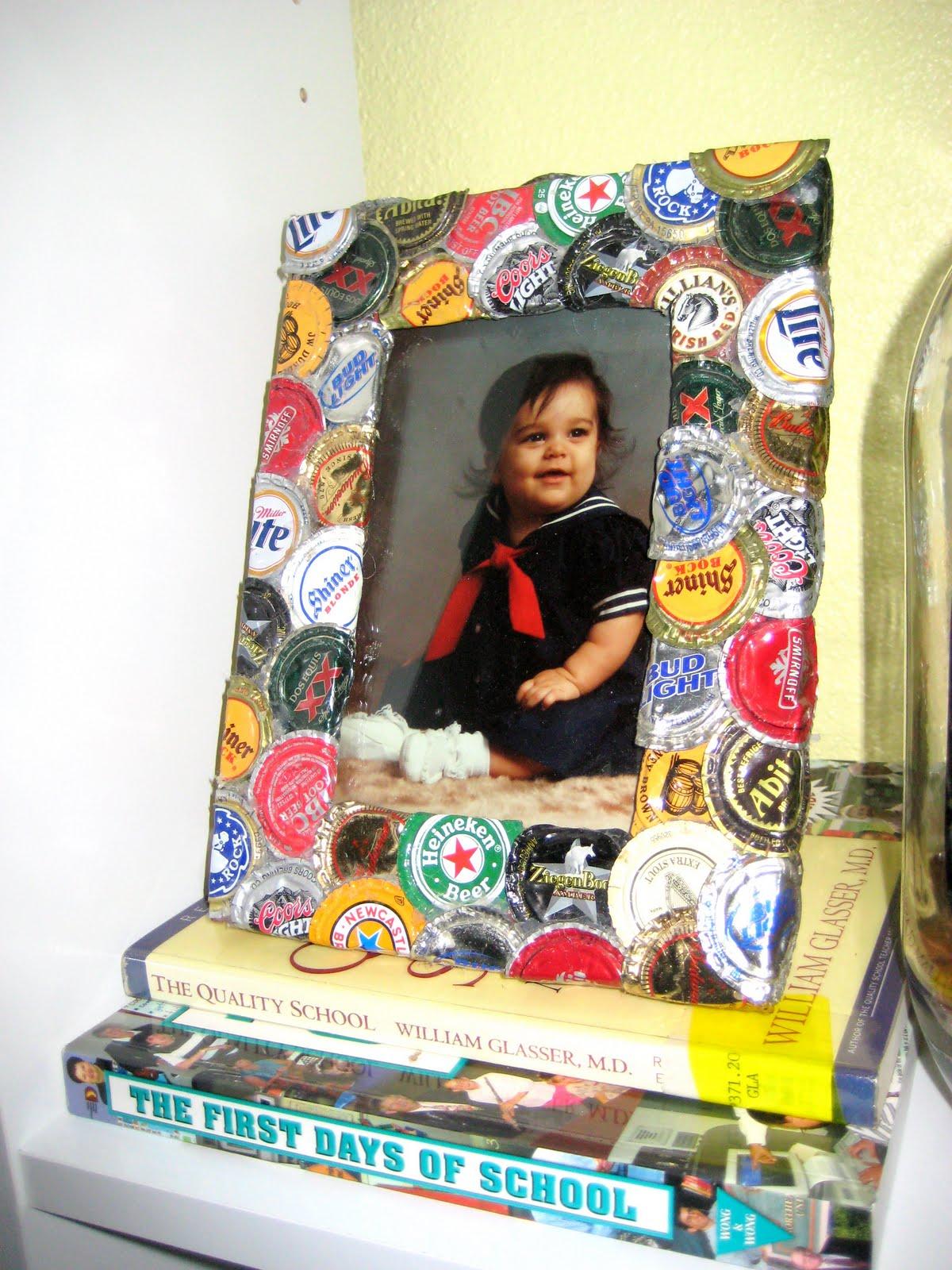 C.R.A.F.T. #25: Bottle Cap Picture Frame - C.R.A.F.T.