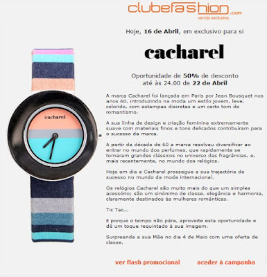 Comprar relogios Cacharel online