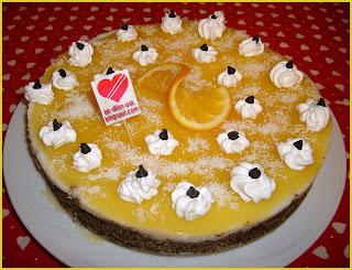 Portakal Pelteli Labneli Haşhaşlı Pasta tarifi