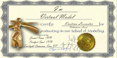 "Valedictorian Graduation Certificate issued by ""I'm Virtual Model"""