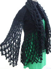 A 1096 - Black wool throw (green dress not included)