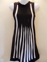 A 1129 - Stripe dress, free size