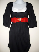A 1127 - Black/white bow dress (belt not included)