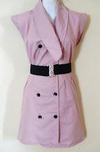 A 1162 - Pink dress w/belt, free size