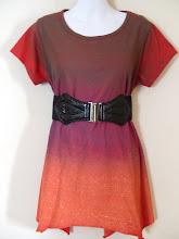 A 1159 - Ty dye top (belt not included), free size