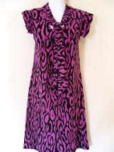 A 1177 - Pink/black dress, free size (fits size S,M)