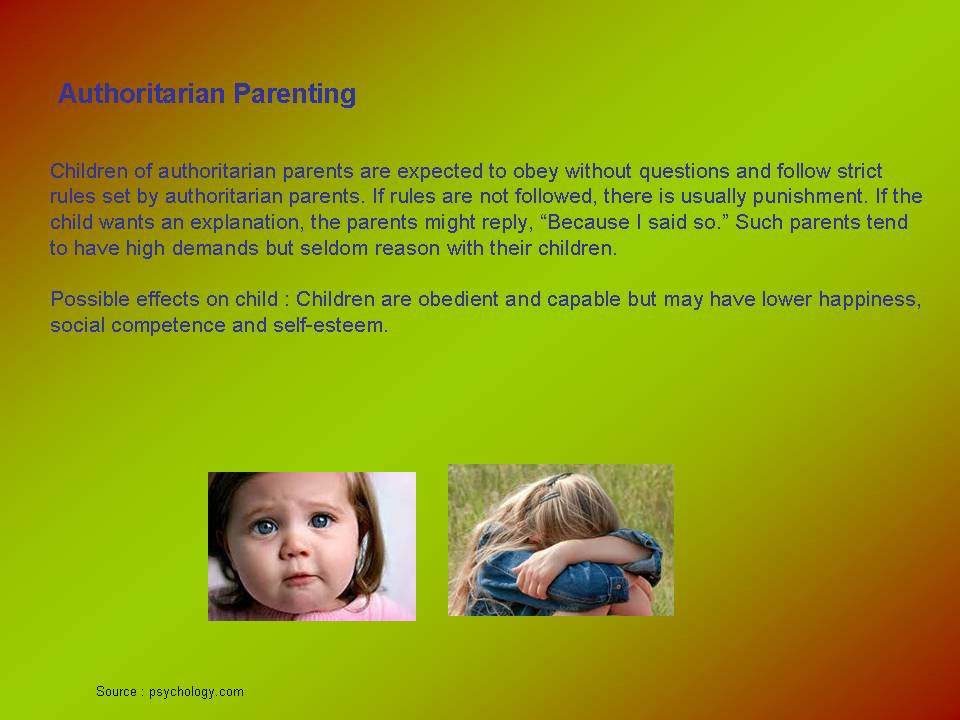 essay on authoritative parenting